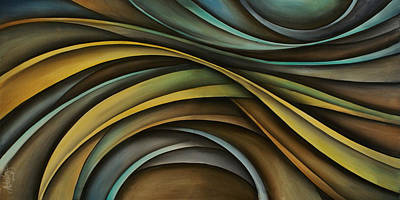 Abstract Design 99 Art Print by Michael Lang