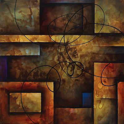 Michael Lang Painting - abstract design  A by Michael Lang