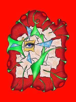 Abstract Digital Art - Deniteus V2 Art Print by Cersatti