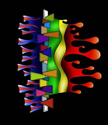 Abstract Digital Art - Grafenonci V2 Art Print by Cersatti