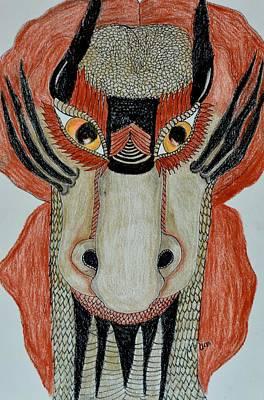 Drawing - Abstract Dragon by Maria Urso
