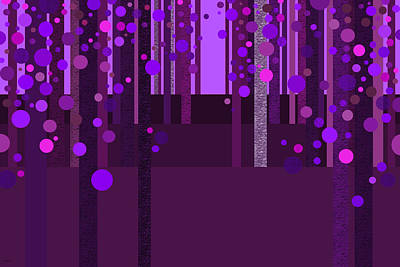 Digital Art - Abstract Dreamscape - Deep Purple by Val Arie