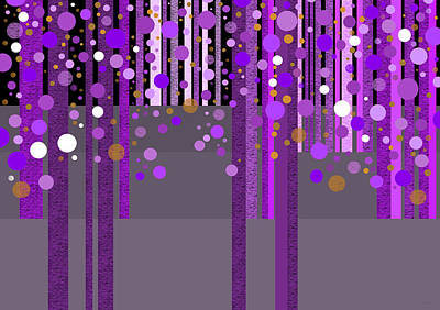 Digital Art - Abstract Dreamscape - Purple And Gold by Val Arie