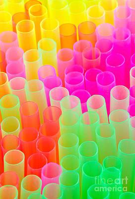 Abstract Drinking Straws Art Print by Meirion Matthias
