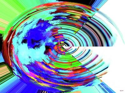 Continent Mixed Media - Abstract Earth by Daniel Janda