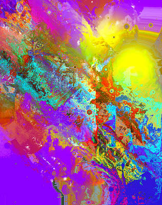 Abstract Eight-chroma Art Print by Patricia Motley