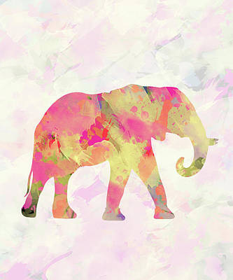 Abstract Elephant  Art Print by Amir Faysal