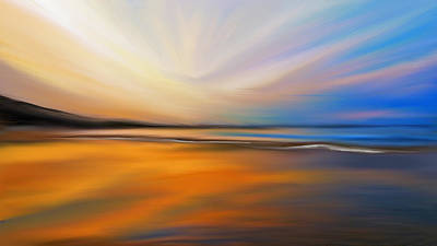 Abstract Beach Landscape Digital Art - Abstract Energy by Anthony Fishburne