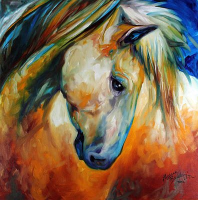Painting - Abstract Equine Eccense by Marcia Baldwin
