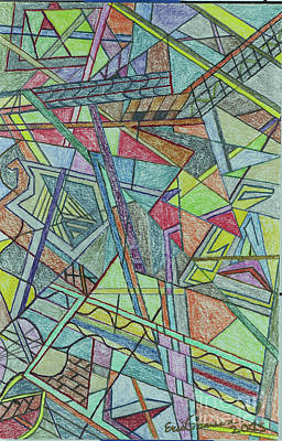 Colored Pencil Abstract Drawing - Abstract by Eric Pearson