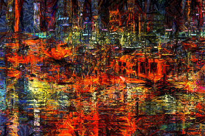 Digital Art - Abstract Evening by Kiki Art