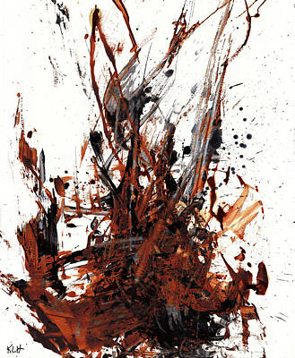 Abstract Expressionism Painting 50.072110 Art Print by Kris Haas