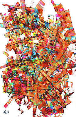 Painting - Abstract Expressionism Painting Series 1163.061312v by Kris Haas