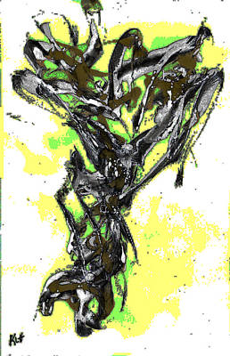 Painting - Abstract Expressionism Painting Series 636.102410invfadedifequalize by Kris Haas