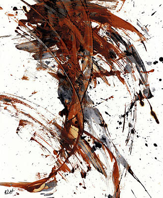 Abstract Expressionism Series 51.072110 Art Print by Kris Haas