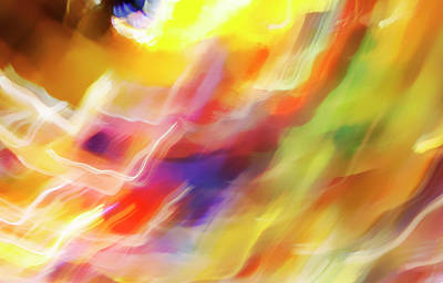 Photograph - Abstract Expressionist Art Glass 2 by Marilyn Hunt