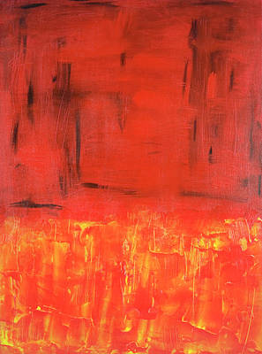 Abstract Expressionist Painting In Red Original by Brad Rickerby