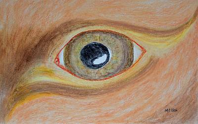 Pastel - Abstract Eye by Maria Urso