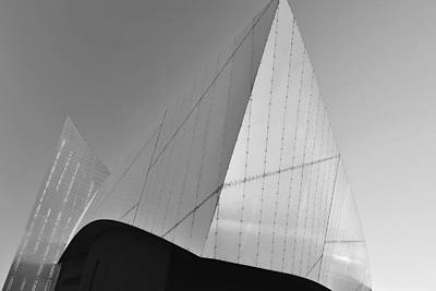 Photograph - Abstract Facade Monochrome by Marek Stepan
