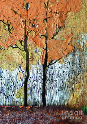 Abstract Fall Trees Art Print