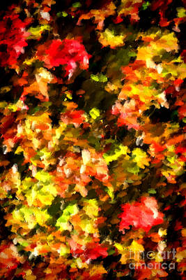 Rendition Photograph - Abstract Fall Vine by Olivier Le Queinec