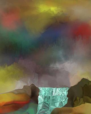 Digital Art - Abstract Falls by David Lane