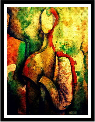 Painting - Abstract Figure # 3 by Chris Boone