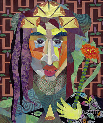 Painting - abstract figure collage - Crown Princess by Sharon Hudson