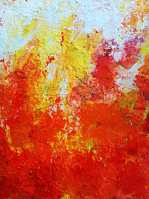 Abstract Painting - Abstract Fire by Angelina Sofronova