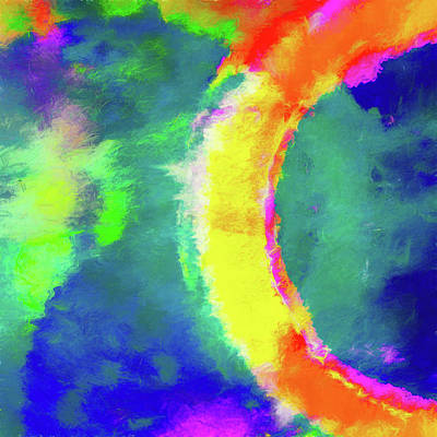 Eclipse Digital Art - Abstract - Fire In The Sky by Jon Woodhams