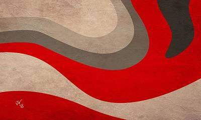 Digital Art - Abstract Fire Wave by John Wills