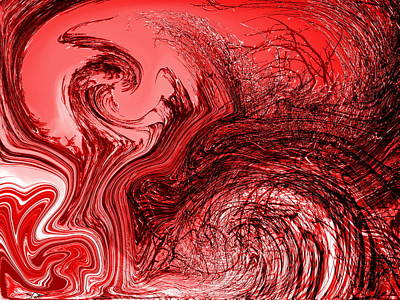 Surreal Photograph - Abstract Firestorm  by Abstract Angel Artist Stephen K