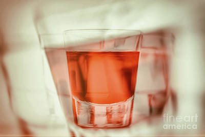 Abstract First Person Perspective Of Being Drunk And Reaching For Another Glass Of Alcohol Art Print