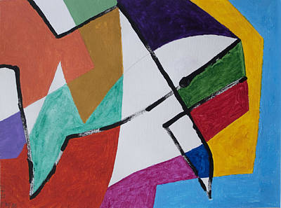 Abstract Shapes Painting - Abstract Fish by Stormm Bradshaw