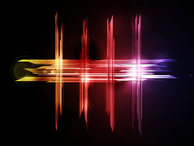 Abstract Digital Art - Abstract Five by Michael Tompsett