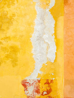 Photograph - Abstract. Flaking Paint On Stucco. by Rob Huntley