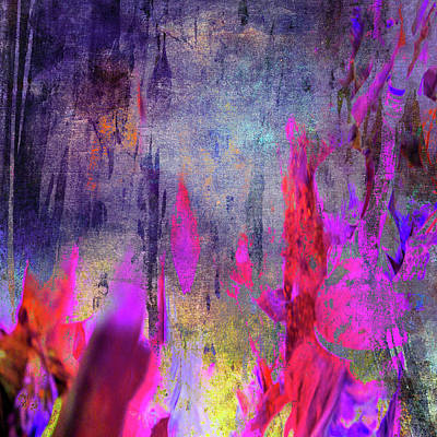 Resin Digital Art - Abstract  Flames by Filippo B