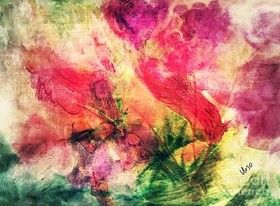 Photograph - Abstract Floral 17-01 by Maria Urso