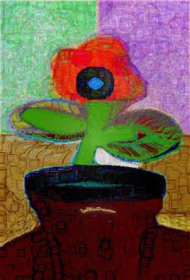 Digital Art - Abstract Floral Art 110 by Miss Pet Sitter