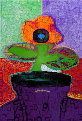 Digital Art - Abstract Floral Art 114 by Miss Pet Sitter