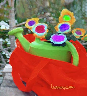 Digital Art - Abstract Floral Art 135 by Miss Pet Sitter