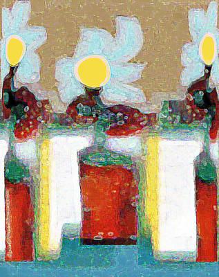 Digital Art - Abstract Floral Art 202 by Miss Pet Sitter