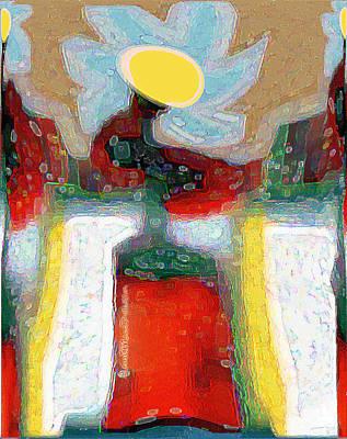Digital Art - Abstract Floral Art 208 by Miss Pet Sitter