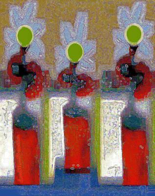 Digital Art - Abstract Floral Art 213 by Miss Pet Sitter