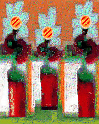 Digital Art - Abstract Floral Art 214 by Miss Pet Sitter
