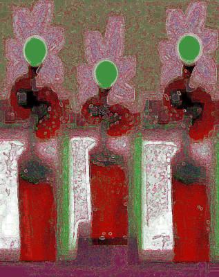 Digital Art - Abstract Floral Art 216 by Miss Pet Sitter