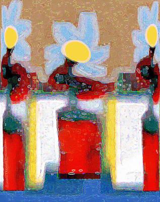 Digital Art - Abstract Floral Art 223 by Miss Pet Sitter