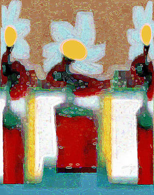 Digital Art - Abstract Floral Art 224 by Miss Pet Sitter