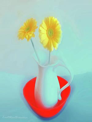 Digital Art - Abstract Floral Art 298 by Miss Pet Sitter