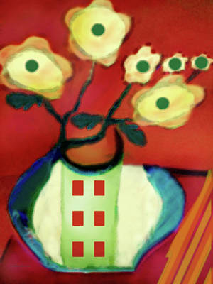 Abstract Floral Art 76 Art Print